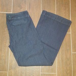 Piper's Closet Dark Wash Wide Leg Size 19 Long
